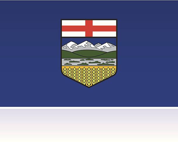 Canadian Provincial Flag: Alberta A vector flag for the Canadian Province of Alberta.  alberta stock illustrations