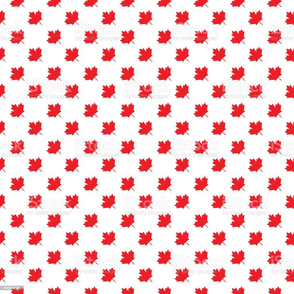 Canadian seamless background, vector illustration. vector art illustration