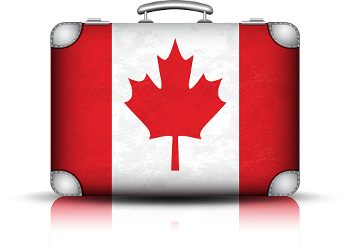 Canadian Suitcase Stock Illustration - Download Image Now