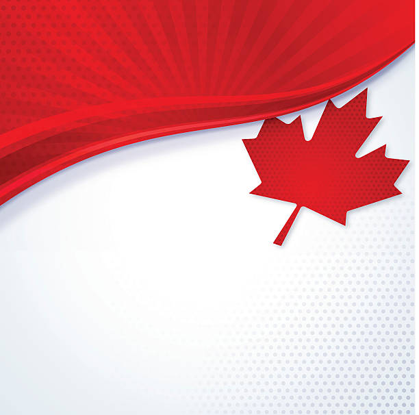 Canadian themed red and white maple leaf This illustration is a background of the text for