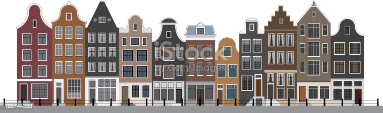 istock Canal Houses in Amsterdam 165744233