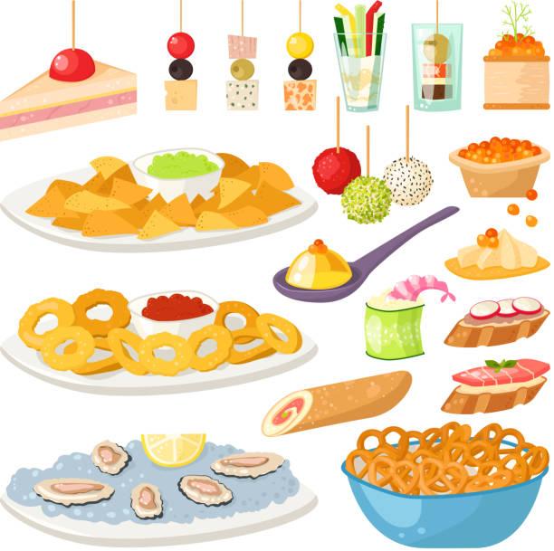royalty free buffet clip art vector images illustrations istock. Black Bedroom Furniture Sets. Home Design Ideas