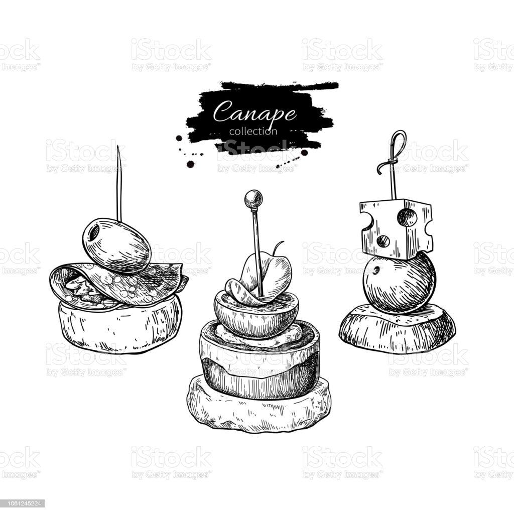 Dessins Vectoriels De Cardonnel Nourriture Des Croquis