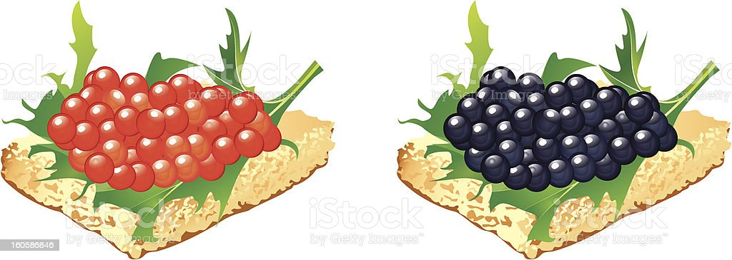 Canapes with black and red caviar royalty-free canapes with black and red caviar stock vector art & more images of appetizer