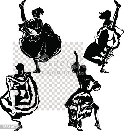 istock cancan dancers silhouettes set 537316734