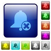 Cancel reminder color square buttons