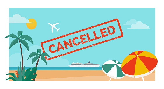 Cancelled vacation and flight due to coronavirus