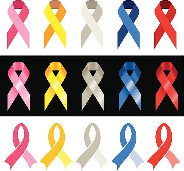 cancer awareness ribbons - ovarian cancer ribbon stock illustrations