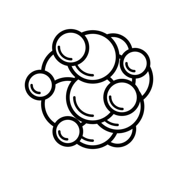 ilustraciones, imágenes clip art, dibujos animados e iconos de stock de el icono de célula cancerosa - cáncer tumor