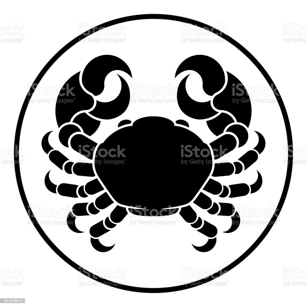Cancer Horoscope Zodiac Sign Crab Stock Illustration