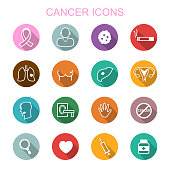 cancer long shadow icons