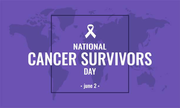 illustrazioni stock, clip art, cartoni animati e icone di tendenza di cancer survivors day - sopravvivenza