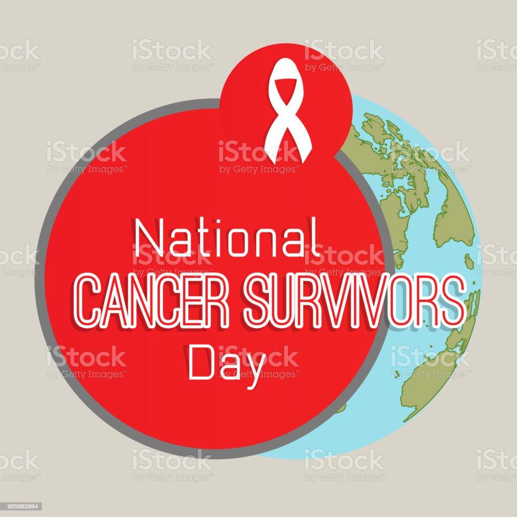 Cancer Survivors Day vector art illustration