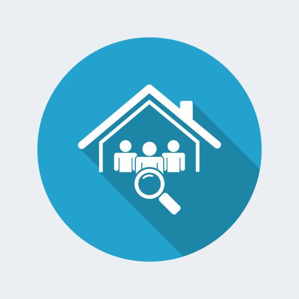 illustrazioni stock, clip art, cartoni animati e icone di tendenza di ricerca candidati - icona web vettoriale - locatario