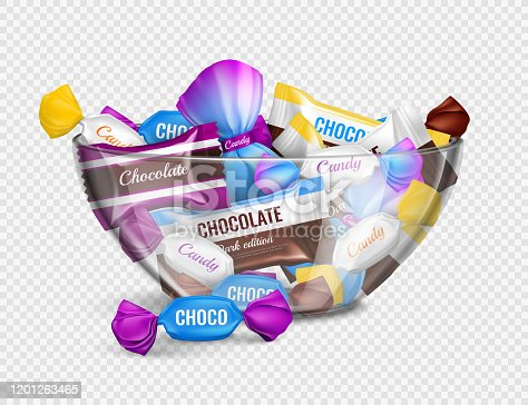 istock candies in bowl realistic transparent 1201263465