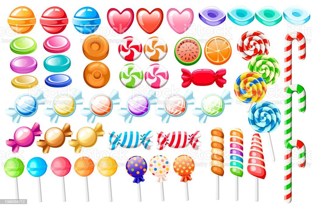 Ensemble De Bonbons Grande Collection De Bonbons De Style