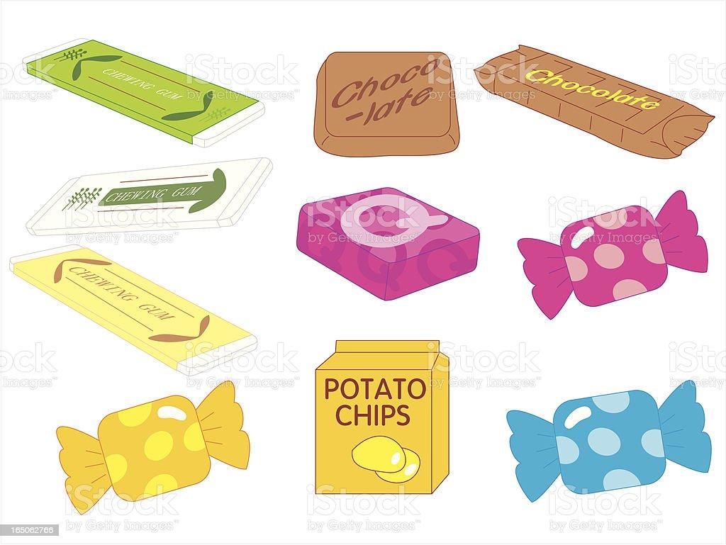 Candies vector art illustration