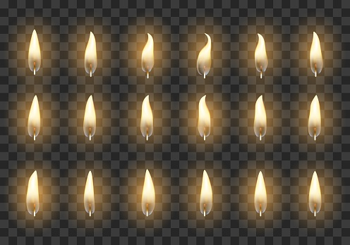 Candle animation frames