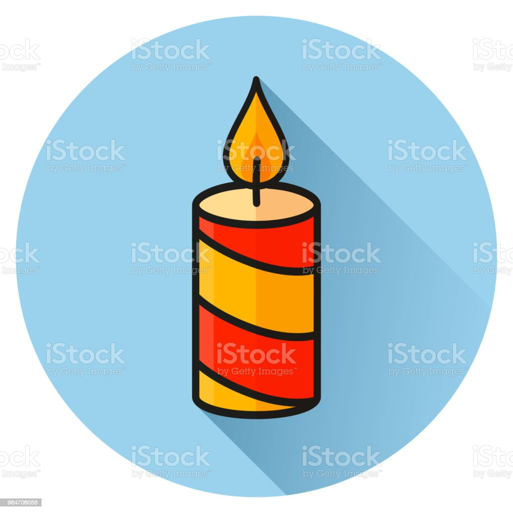candle circle blue flat icon royalty-free candle circle blue flat icon stock vector art & more images of burning