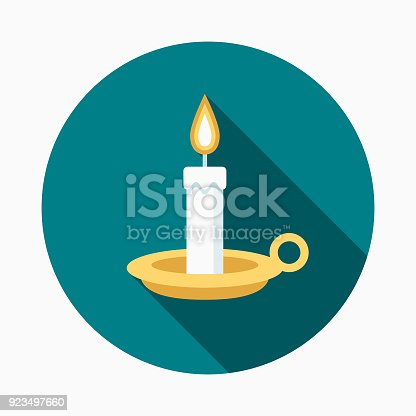 istock Candle Flat Design Easter Icon with Side Shadow 923497660