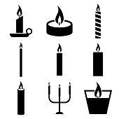 istock Candle icon, logo isolated on white background 1194913579