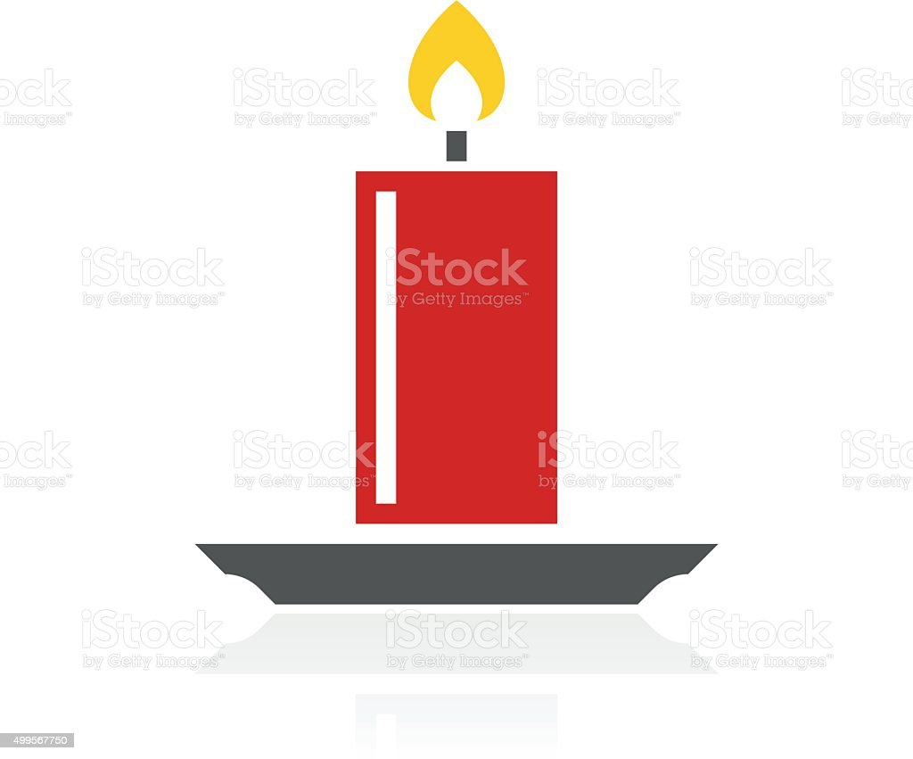 Candle icon on a white background. - ColorSeries vector art illustration
