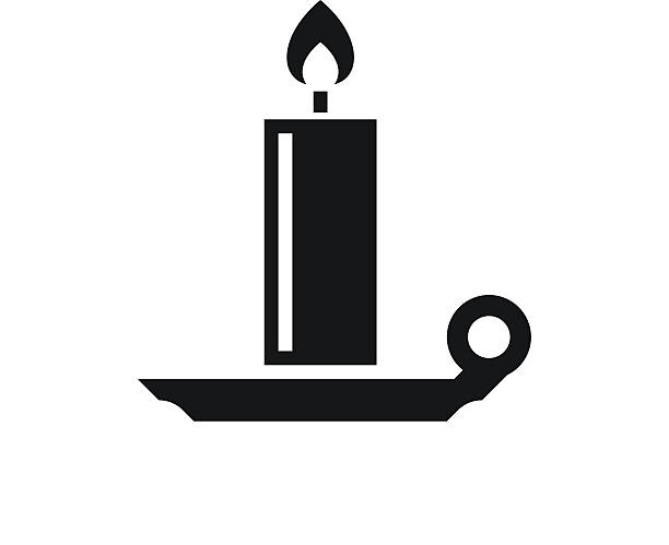 Candle icon on a white background. - SingleSeries Illustration includes a black, Candle icon on a white background. candlestick holder stock illustrations
