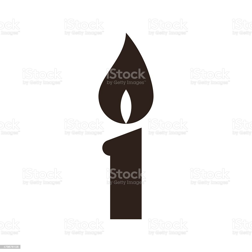 Candle icon vector art illustration