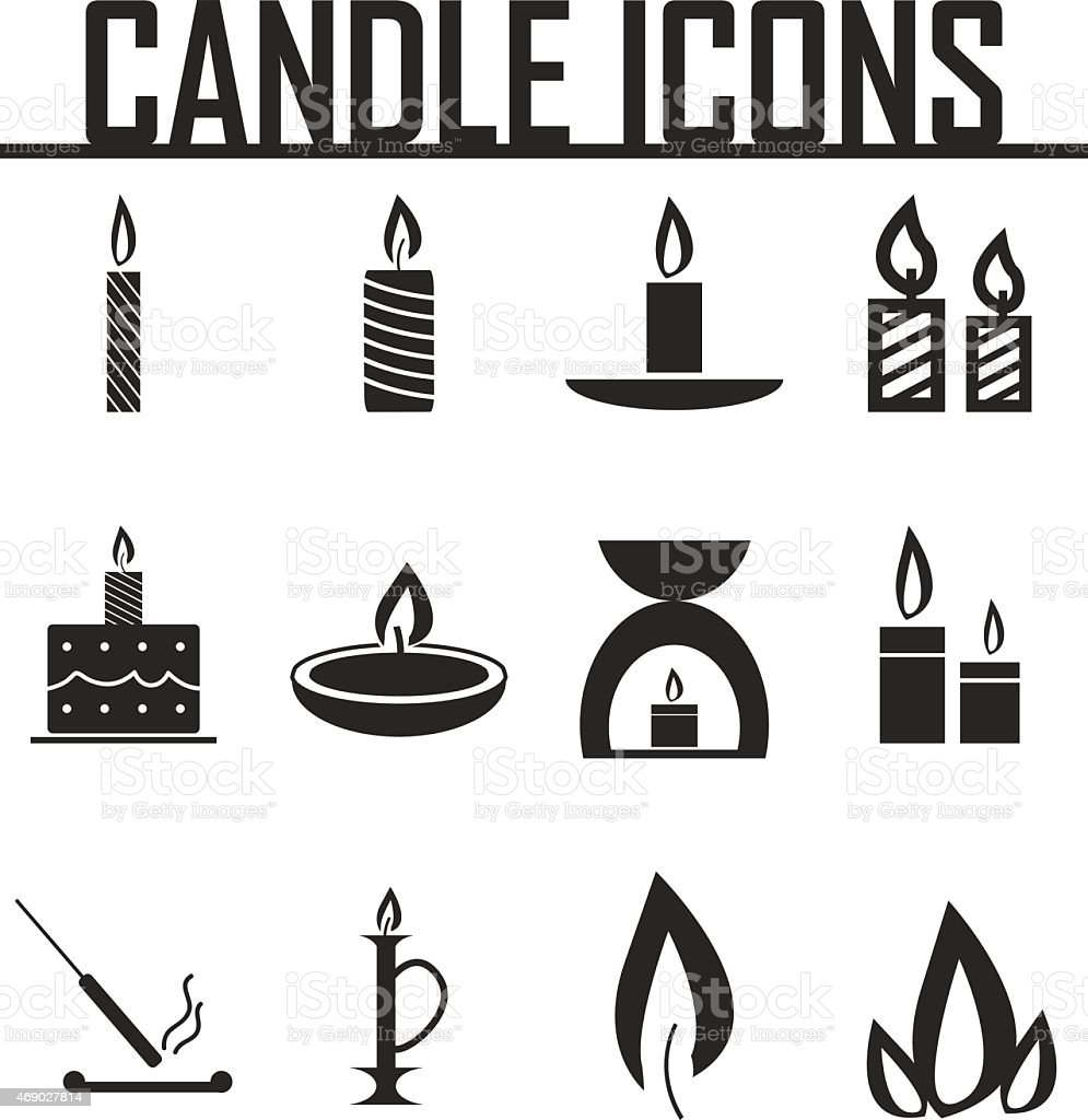 Candle  icons. vector illustration eps 10. vector art illustration