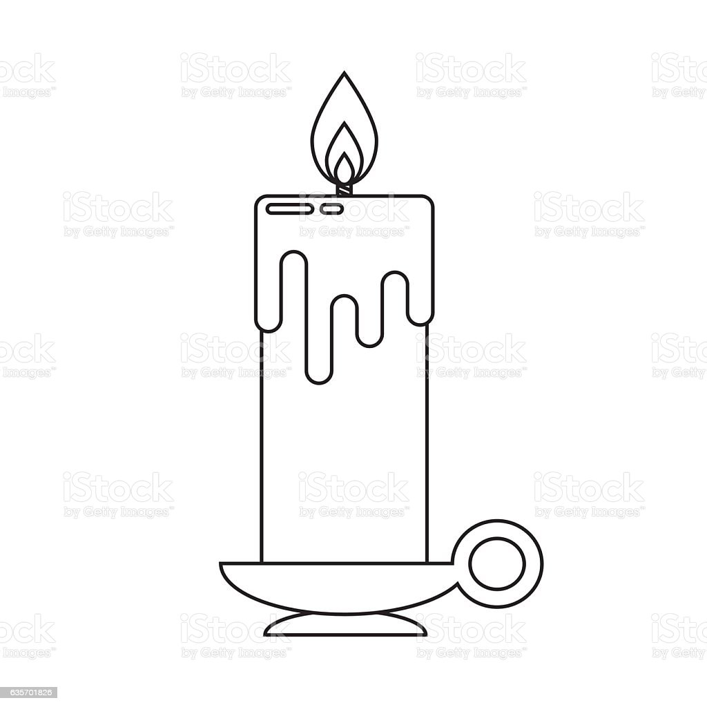 candle in flat style. royalty-free candle in flat style stock vector art & more images of birthday