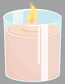 istock Candle in glass jar. 1226040762