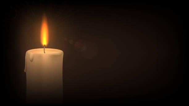 ilustraciones, imágenes clip art, dibujos animados e iconos de stock de la vela en la oscuridad - adviento