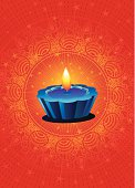 Indian Diwali festival Greeting .Lot of copy space,very useful for print,greetings and web banner.