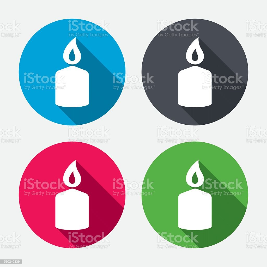 Candle sign icon. Fire symbol. vector art illustration