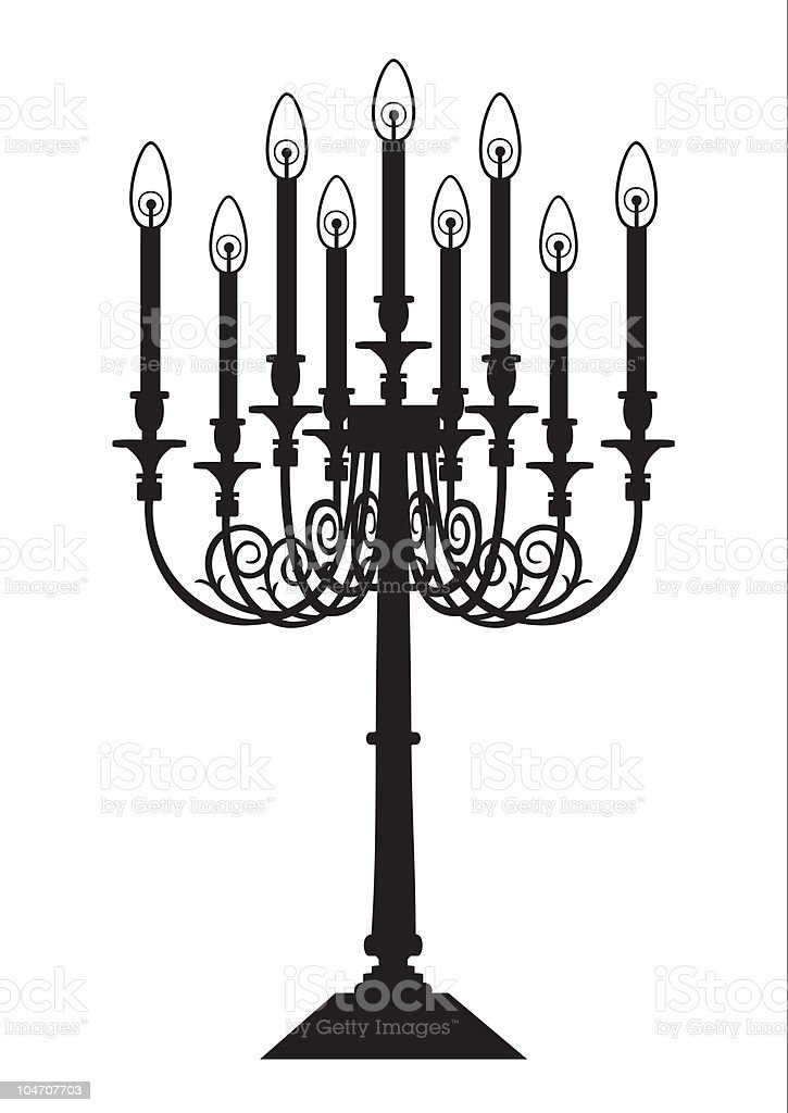 Candle silhouette vector art illustration
