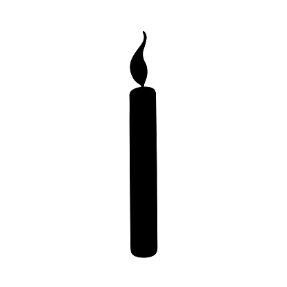 Candle silhouette