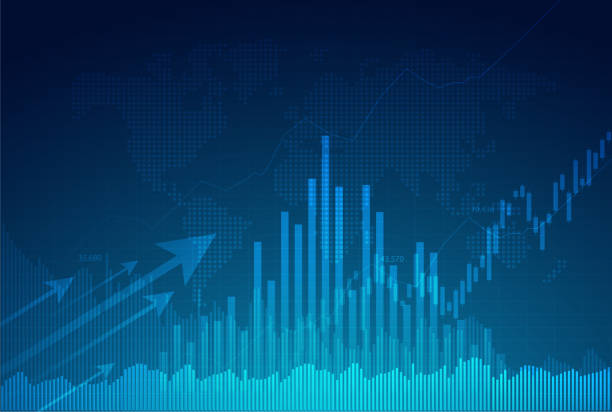 Candle stick graph chart of stock market investment trading, Bullish point, Bearish point. trend of graph vector design. Candle stick graph chart of stock market investment trading, Bullish point, Bearish point. trend of graph vector design. business backgrounds stock illustrations