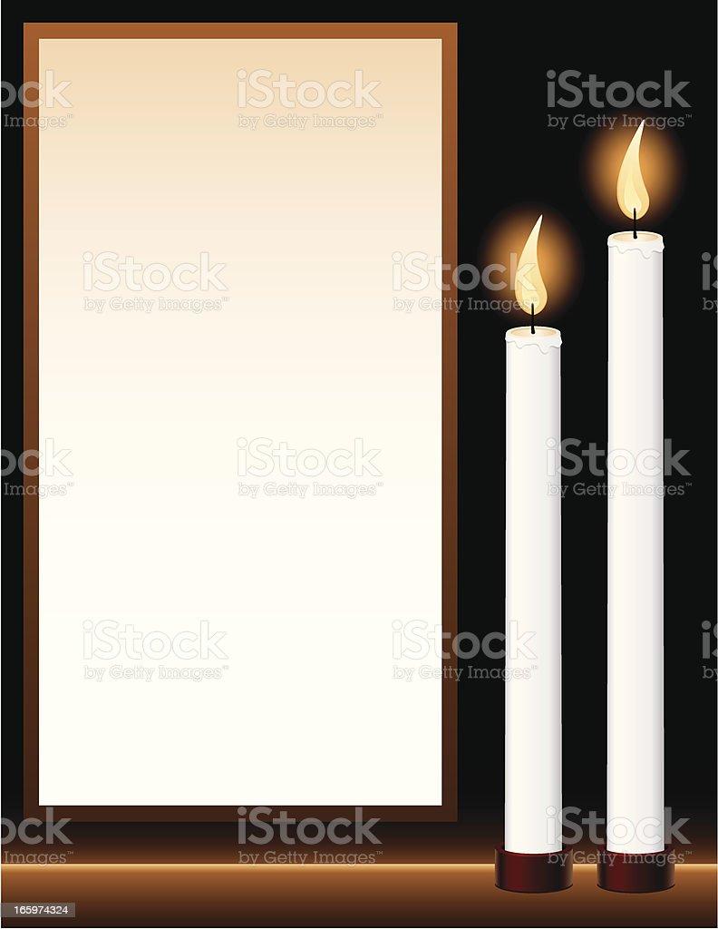 Candlelight Vigil vector art illustration