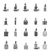 Candles icon set