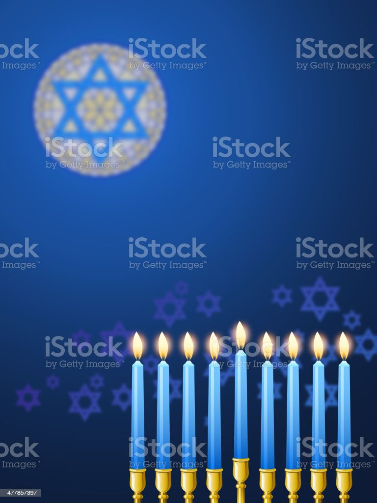 Candles in Synagogue royalty-free stock vector art