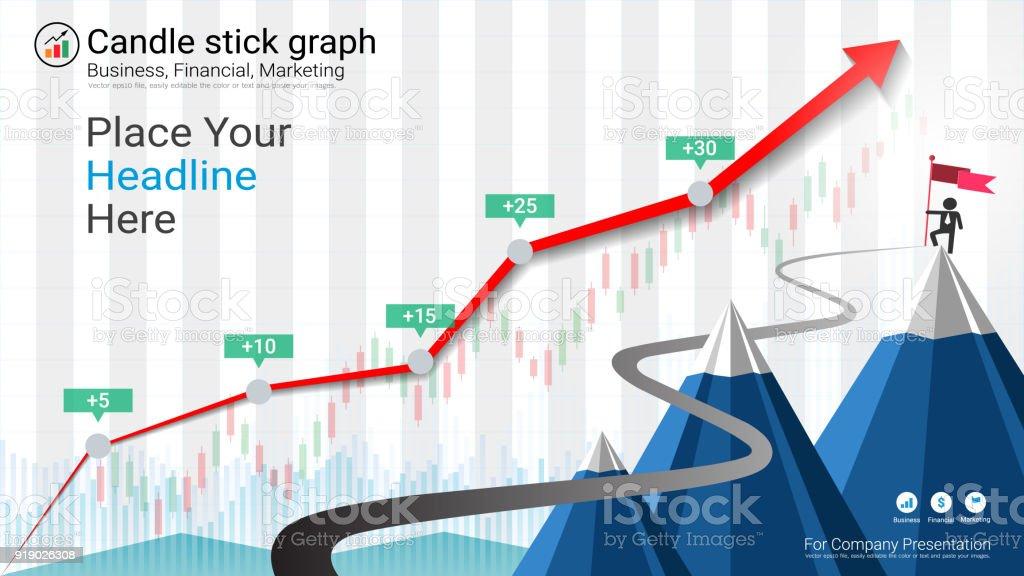 Kerze Und Finanzielle Graphdiagramme Infografik Präsentationen ...