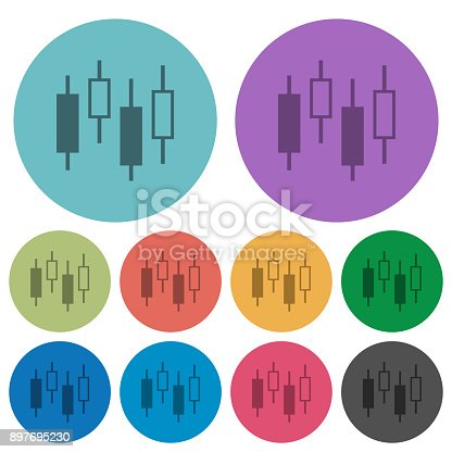 Candlestick Chart Color Darker Flat Icons Stock Vector Art 897695230