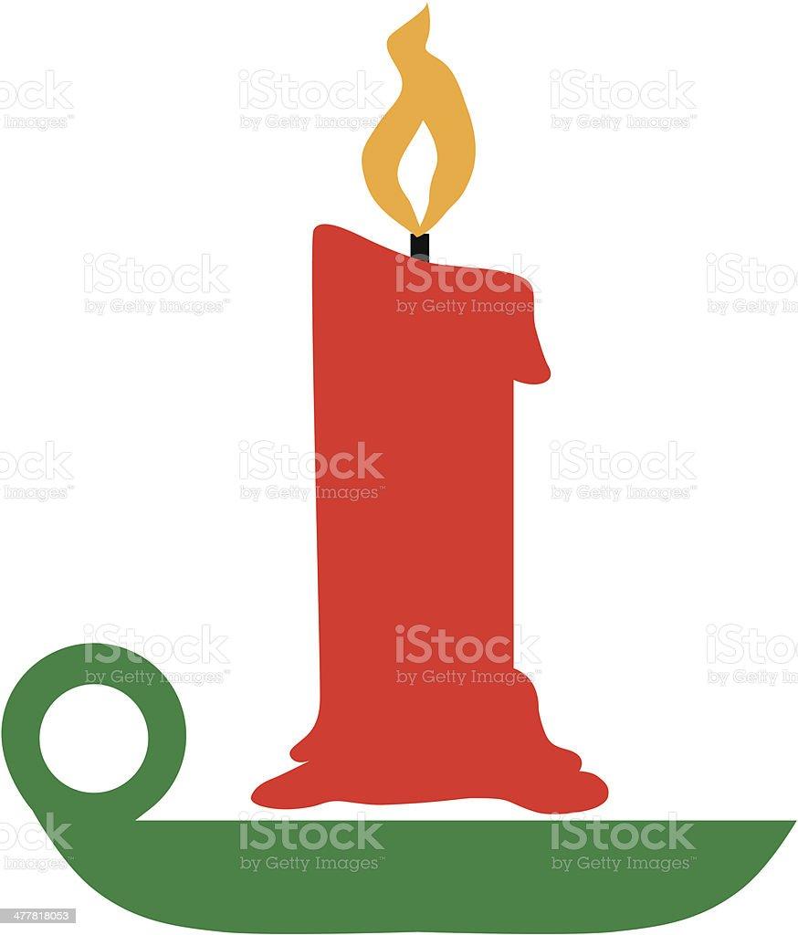 Candlestick holder royalty-free stock vector art