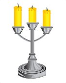 Candlestick on three candles