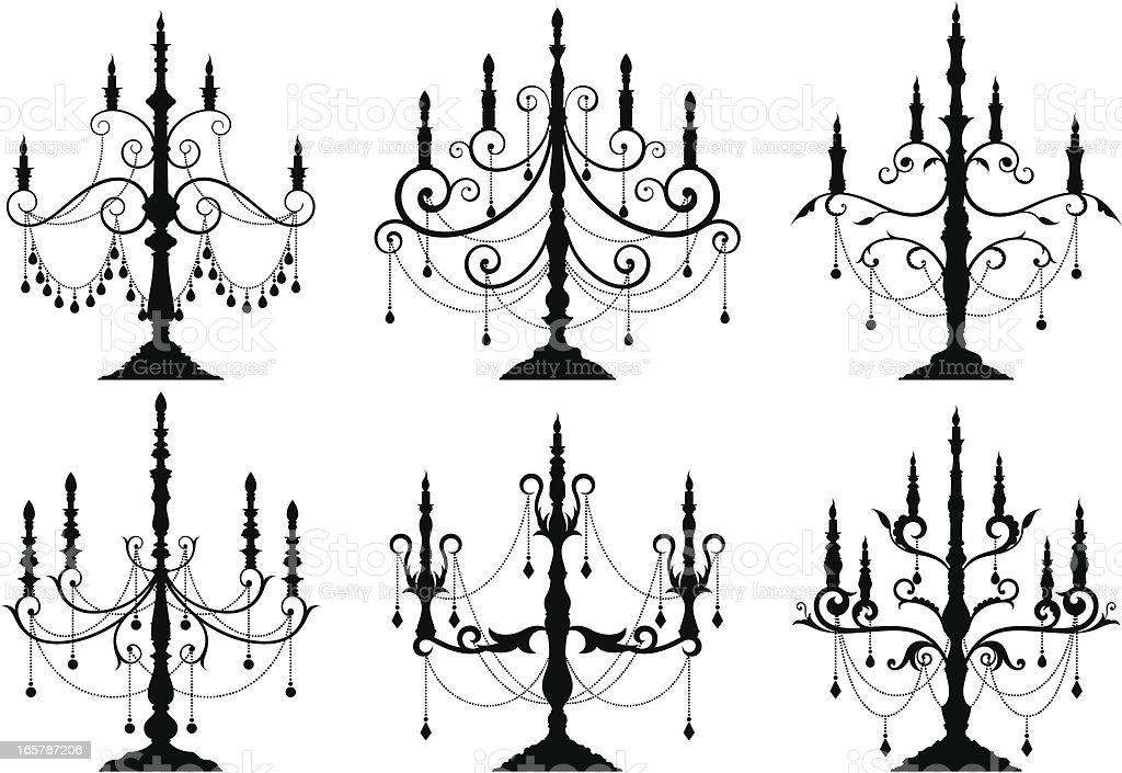 candlestick vector art illustration
