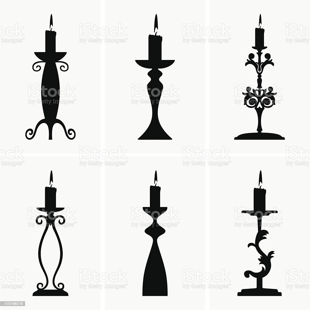 Candlestick vector art illustration