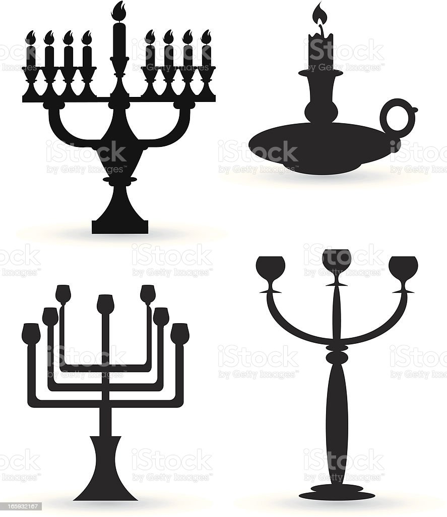 candlesticks silhouette royalty-free stock vector art