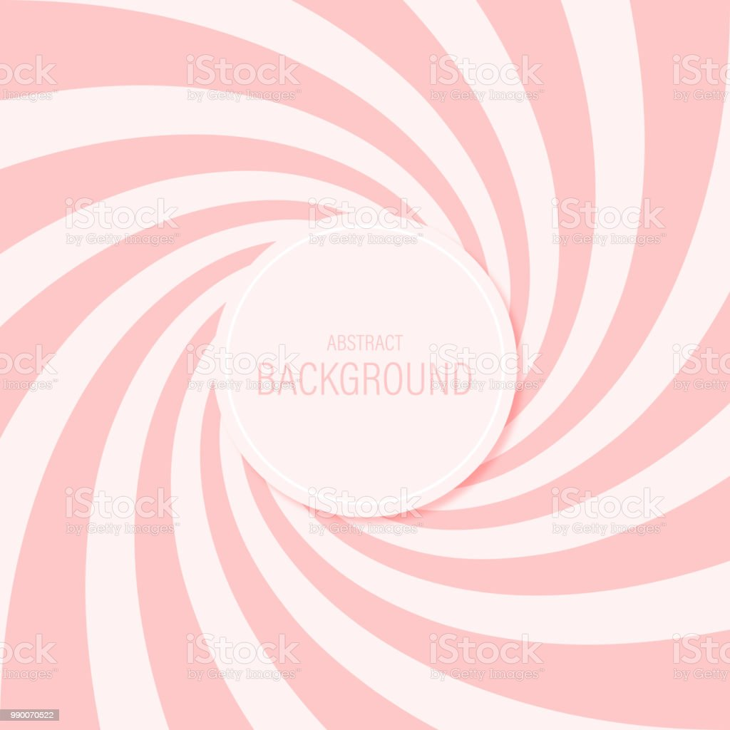 Candy abstract background spiral pattern sweet pink vector design. - arte vettoriale royalty-free di Astratto