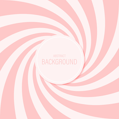 Candy abstract background spiral pattern sweet pink vector design.