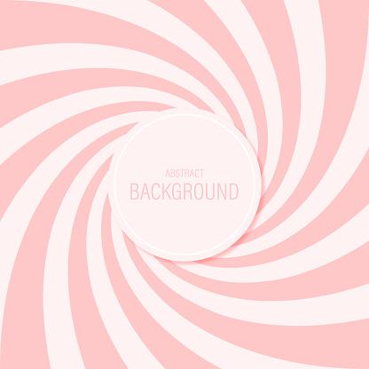 Candy Abstract Background Spiral Pattern Sweet Pink Vector Design - Immagini vettoriali stock e altre immagini di Astratto
